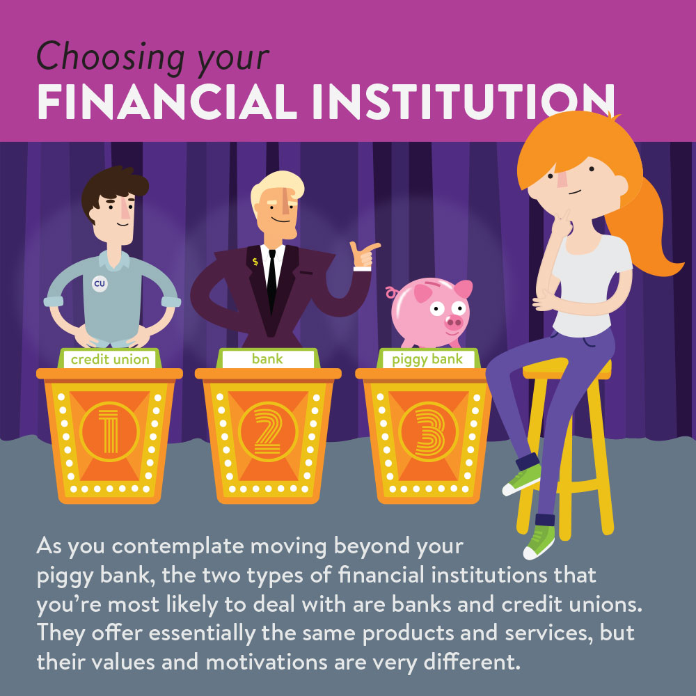 Choosing your financial institution | how banks and credit unions differ