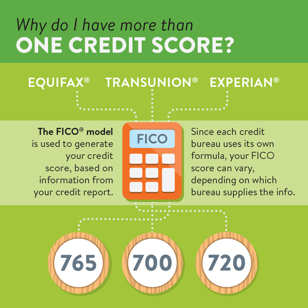 Why a person has more than one credit score