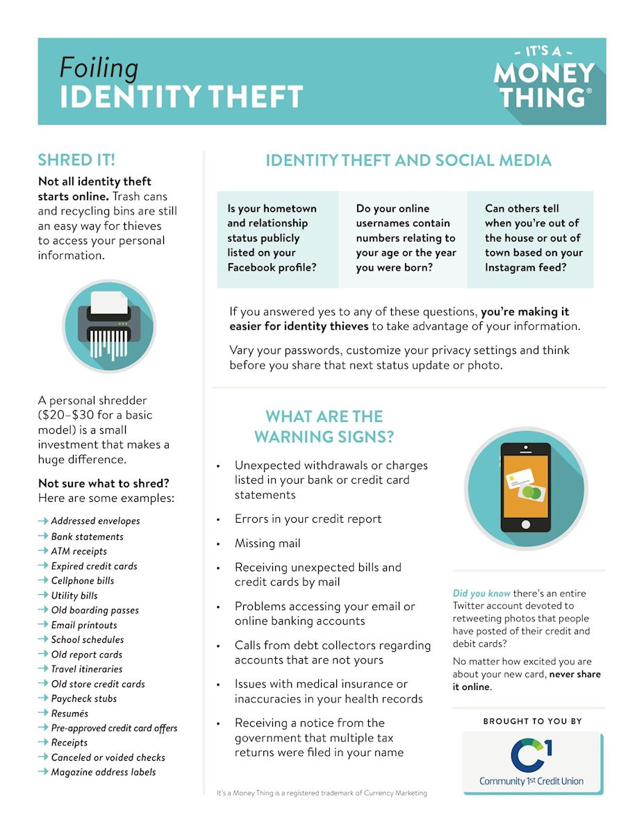 Foiling Identity Theft Handout