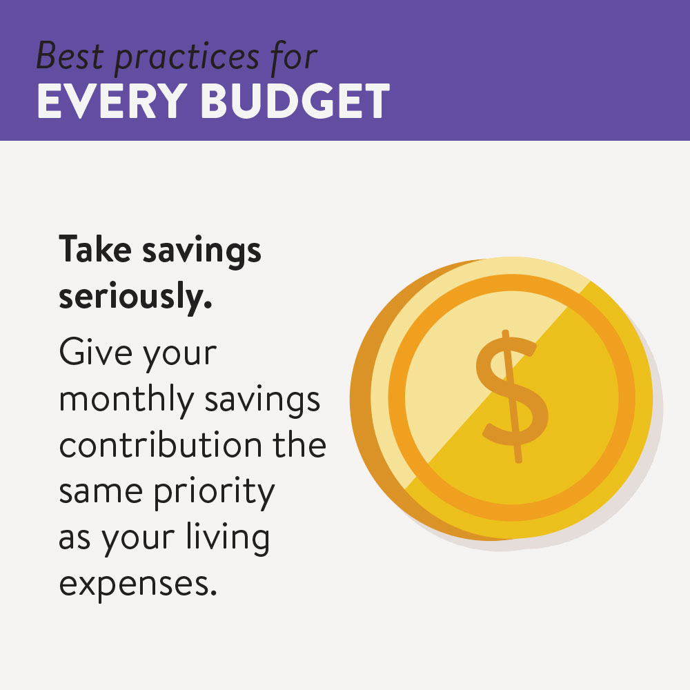 Take savings seriously, treat monthly savings like a living expense in your budget.