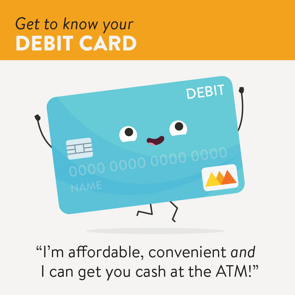 Graphic showing the benefits of debit cards