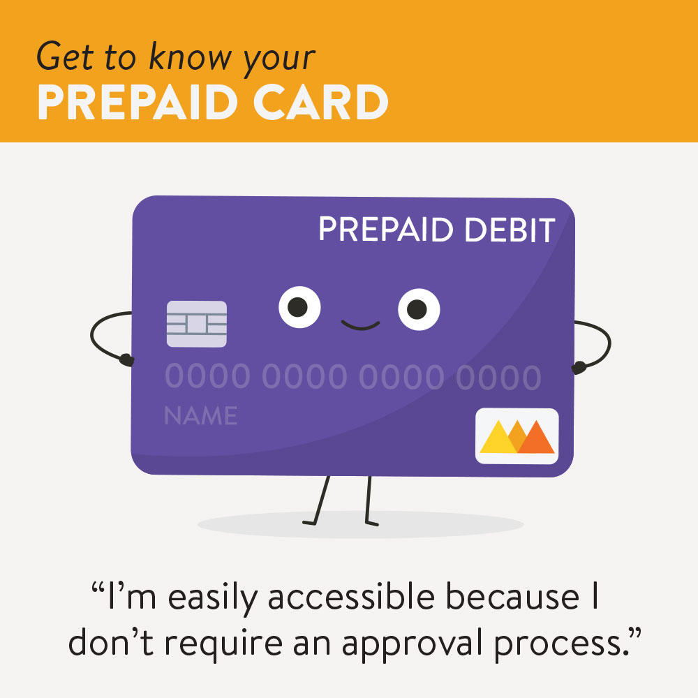 Graphics showing the benefits of prepaid debit cards