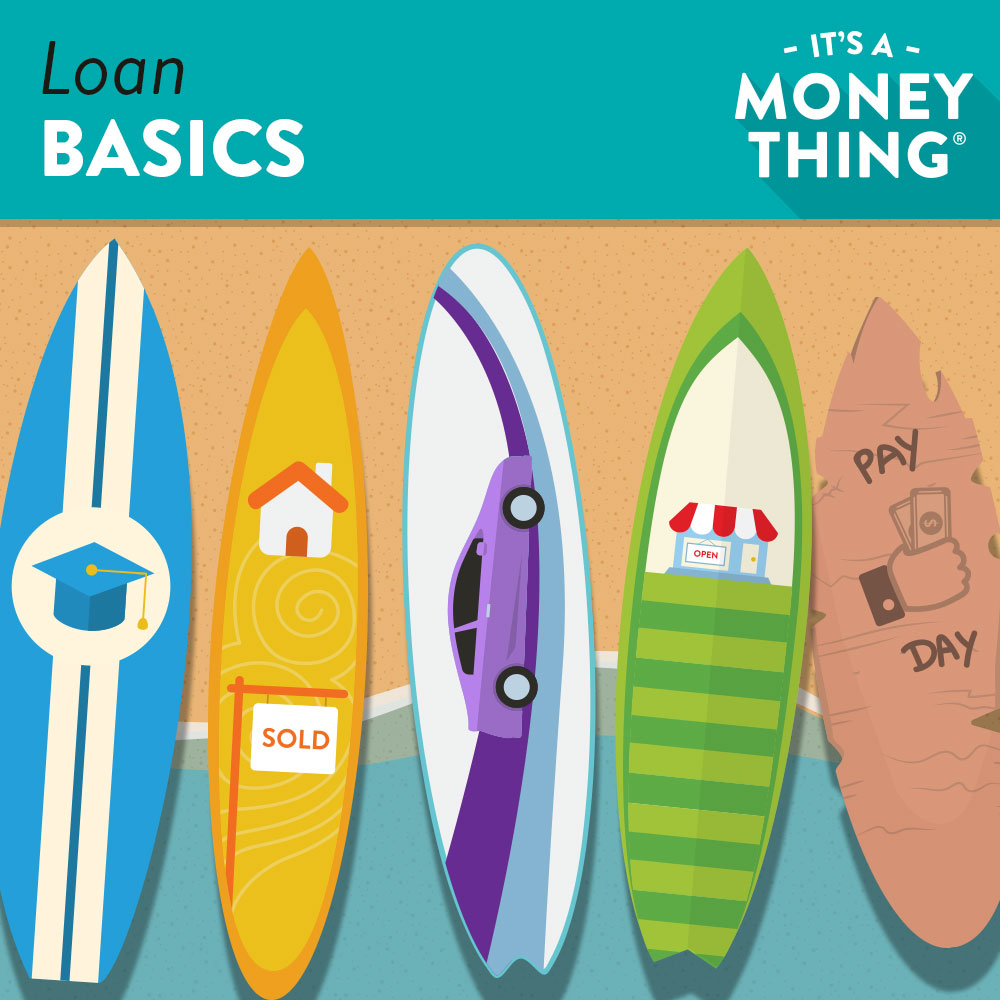 Loan Basics | surfboards symbolizing the different types of loans