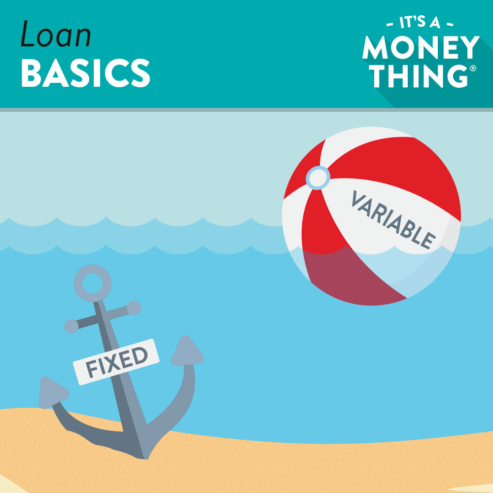 Loan Basics | an anchor and a beach ball symbolizing fixed and variable rates