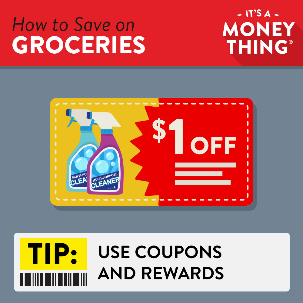 Use coupons to save more on groceries