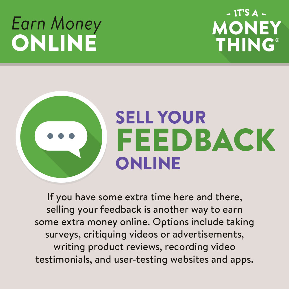 Sell Your Feedback Online