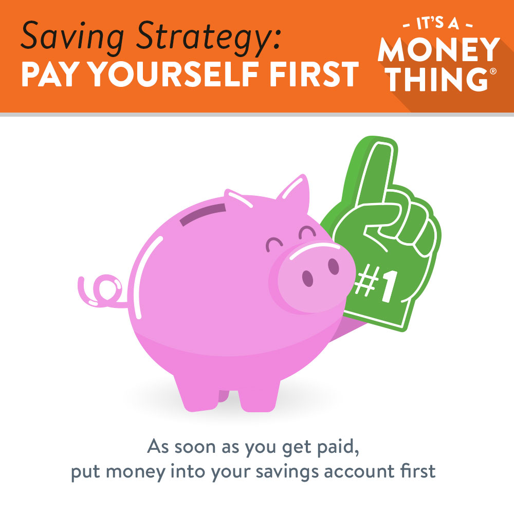 Saving strategy | pay yourself first by putting money into your savings account before anything else