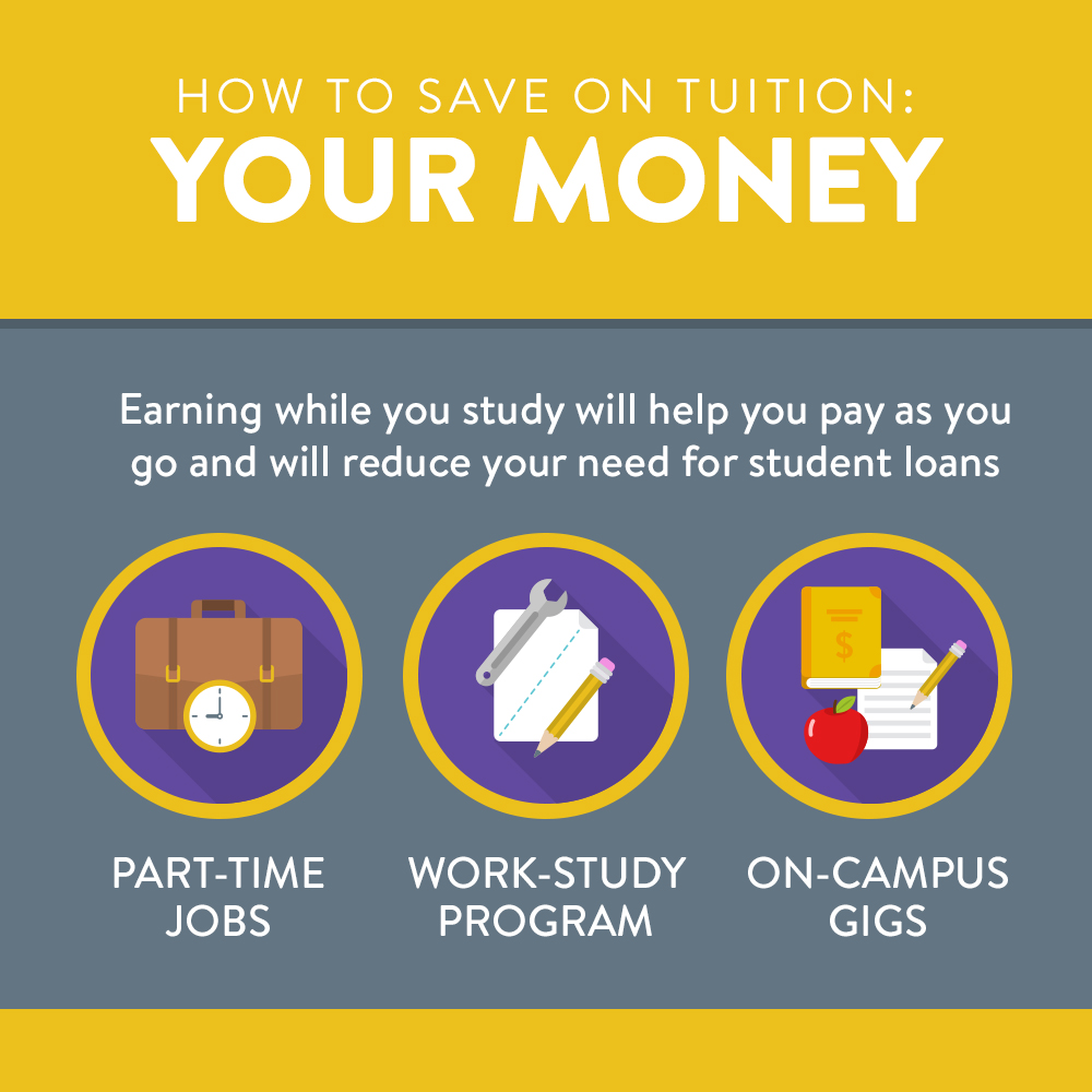 How to save on tuition | secure a source of income