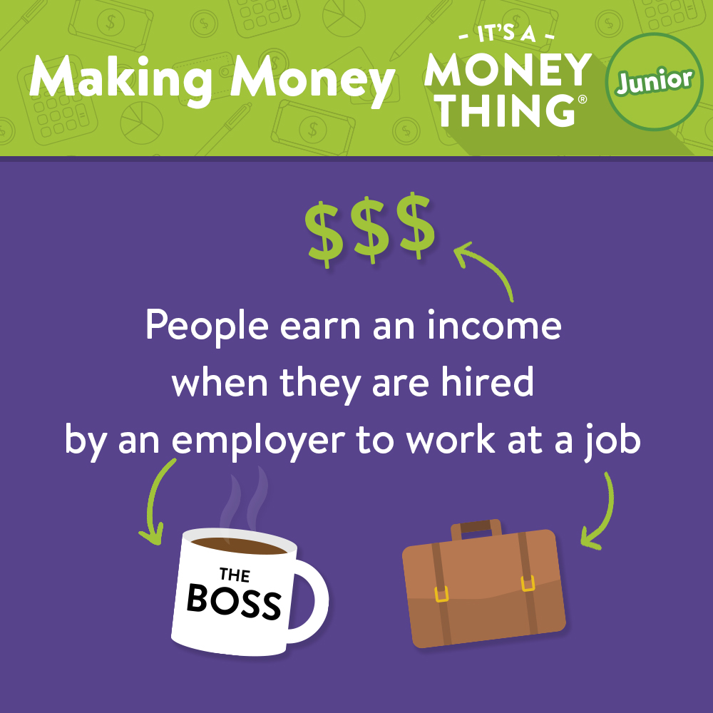 Earning income when you work