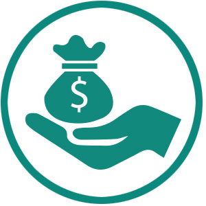 holding money icon